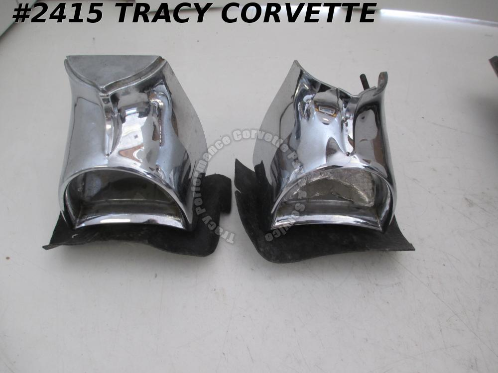 1957 Chevrolet Original Tail Light Housing Assemblies/Pair