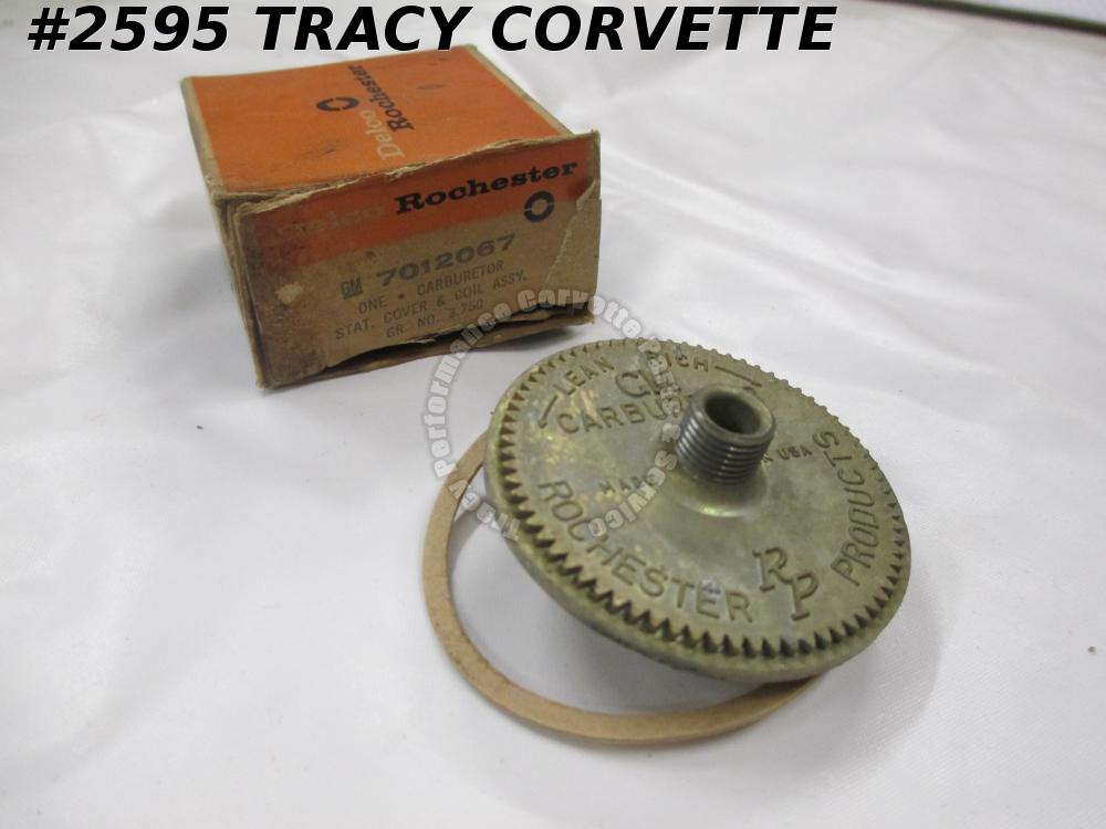 1958-1961 Chevrolet NOS 7012067 Delco Rochester Stat Cover & Coil Assembly