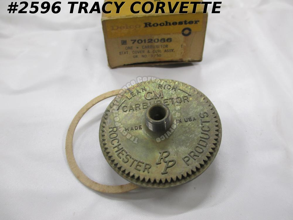 1958-1961 Chevrolet NOS 7012066 Delco Rochester Stat Cover & Coil Assembly