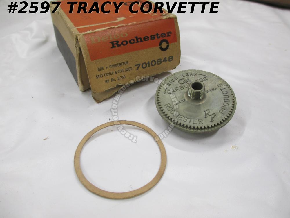1957 Chevrolet NOS 7010848 Delco Rochester Stat Cover & Coil Assembly