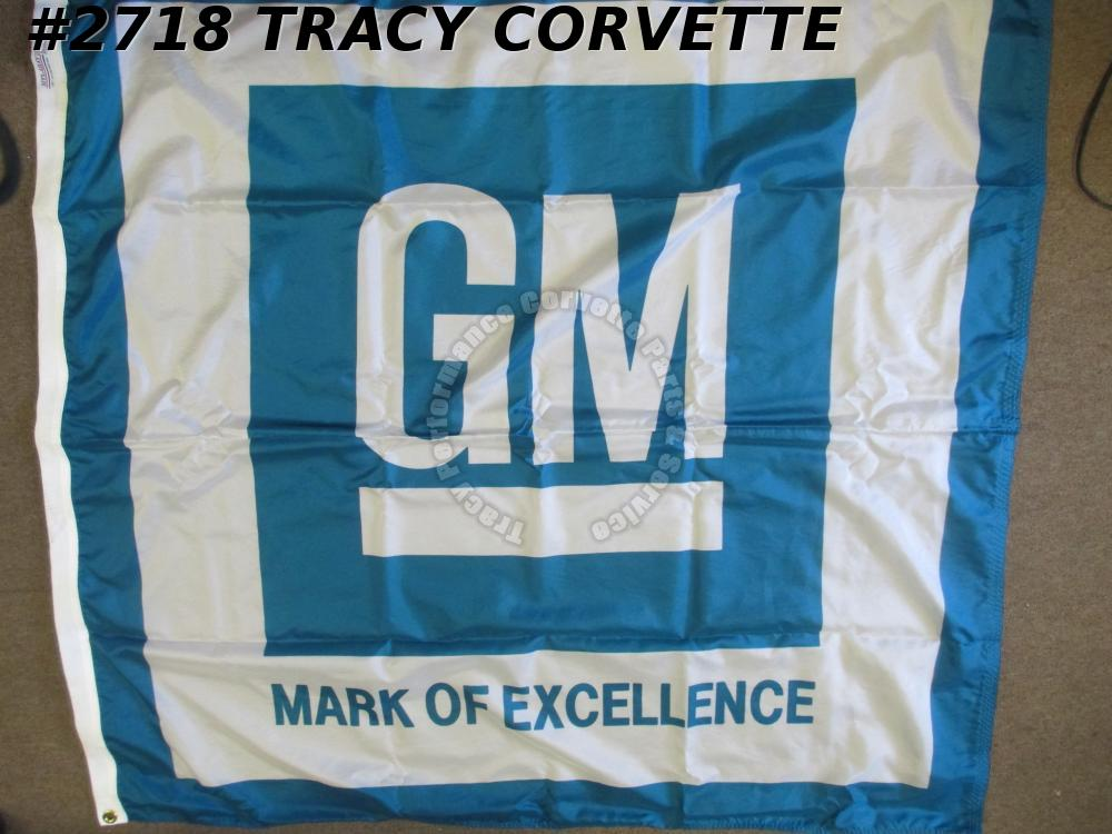 1967 GM Mark of Excellence Nyl-Glo  Garage Hanger Flag 49 Inches x 49 Inches