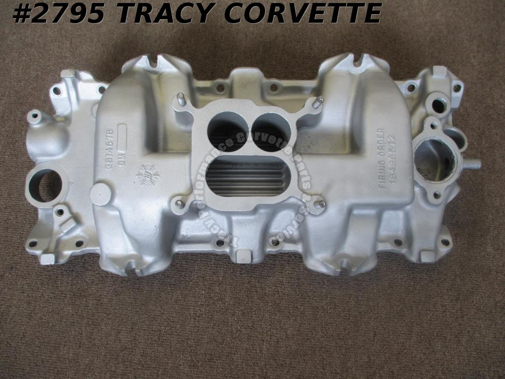 1961-1963 Chevy Used 3814678 Aluminum Intake Manifold 409 CID Dated 2-16-62