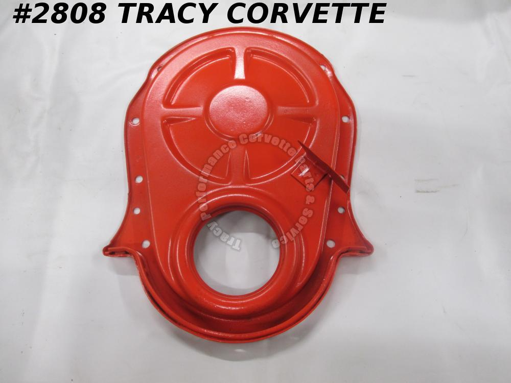 "1969-1970 Chevrolet BB Timing Chain Cover for 8"" Balancer Dowel Hole Dated 1 7 0"