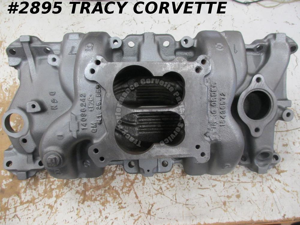 1955-90 Chevy 14096242 Holley/Q-J Iron Hi Rise Late Intake Manifold Circle Track