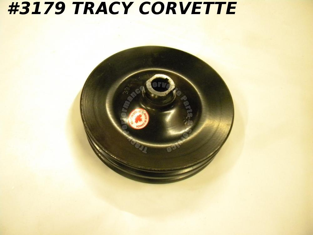 1971-74 Camaro Chevelle New 3941107 2 Groove Power Steering Pulley with V8/AC