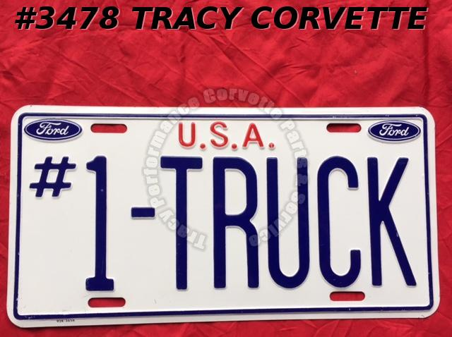New Metal License Plate Ford U.S.A. #1-Truck