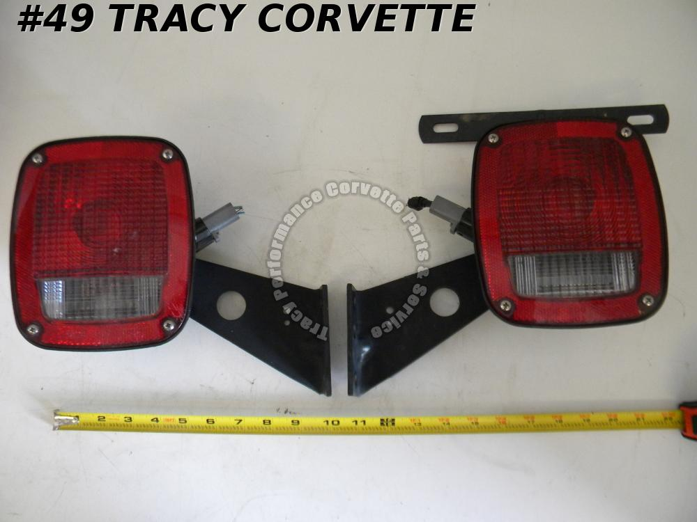Trailer Truck Flatbed Car Hauler HD Rear Ford Lamps 6C34-13404AA 6C34-13405AA/Pr