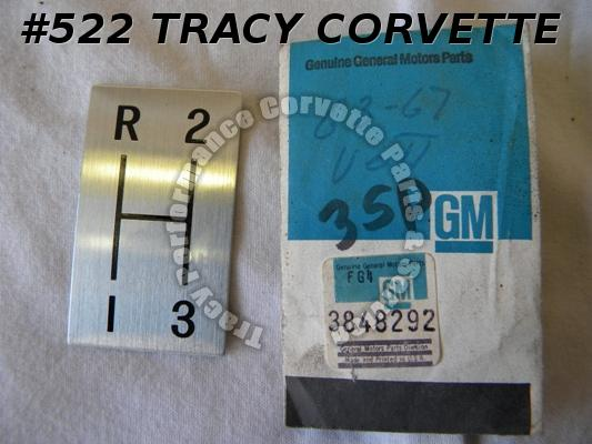 1964-1967 Corvette NOS 3848292 3 Spd Indicator Shift Plate 64 65 66 67 & Others